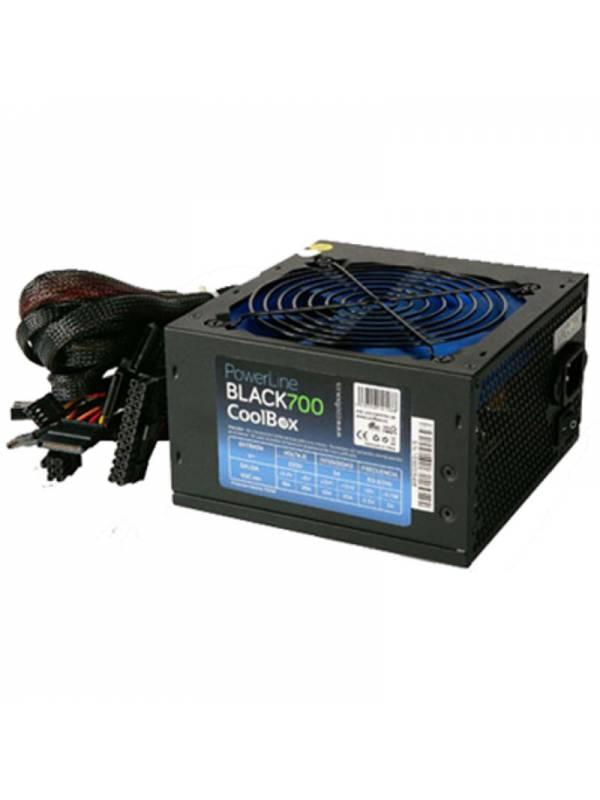 FUENTE 700W22A COOLBOX 12CM    BLACK 700