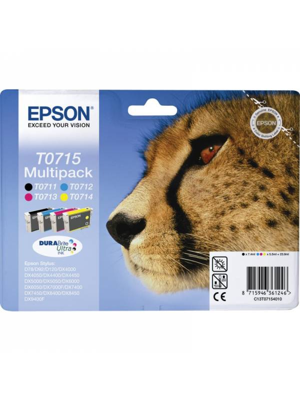 CARTUCHO EPSON T071540 PACK 4  COLORES