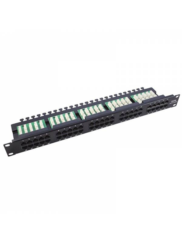 PATCH PANEL 50 PTOS ISDN-VOZ   CAT.3 GA-571300