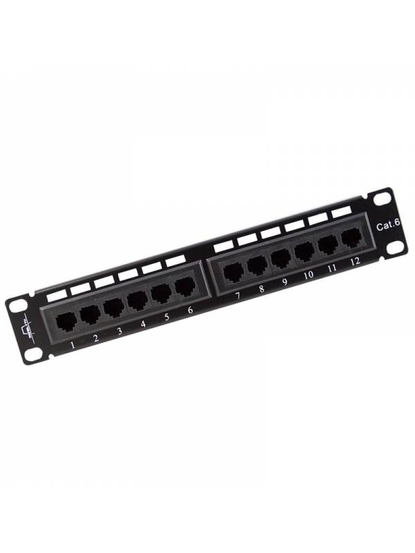 PATCH PANEL 12 PTOS UTP CAT.6   10 KRONE Y 110 DUAL IDC