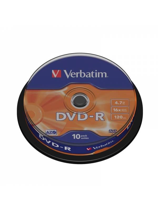 DVD VERBATIM 10 UNDS 16X 4.7GB  -R