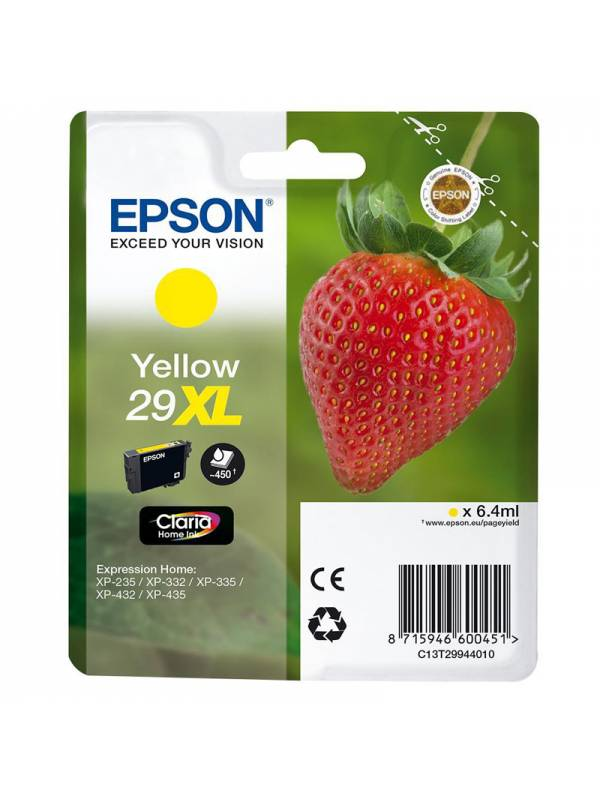 CARTUCHO EPSON T299440 29XL AM ARILLO