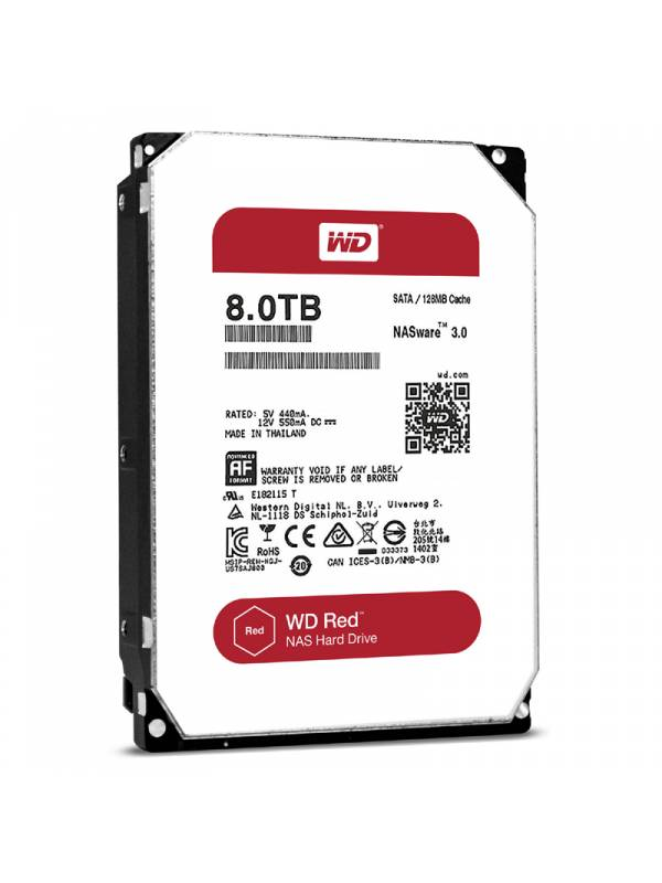 DISCO 3.5   8TB WD SATA3 RED   NAS WARE