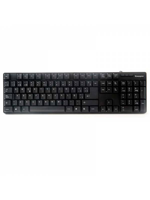TECLADO USB/PS2 POWERGREEN KEY -1001-SP COMBO NEGRO