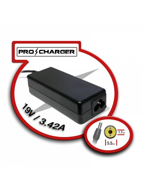 ALIMENTADOR PORT.  65W MOD.5   ACER PRO-CHARGER ESPECIFICO
