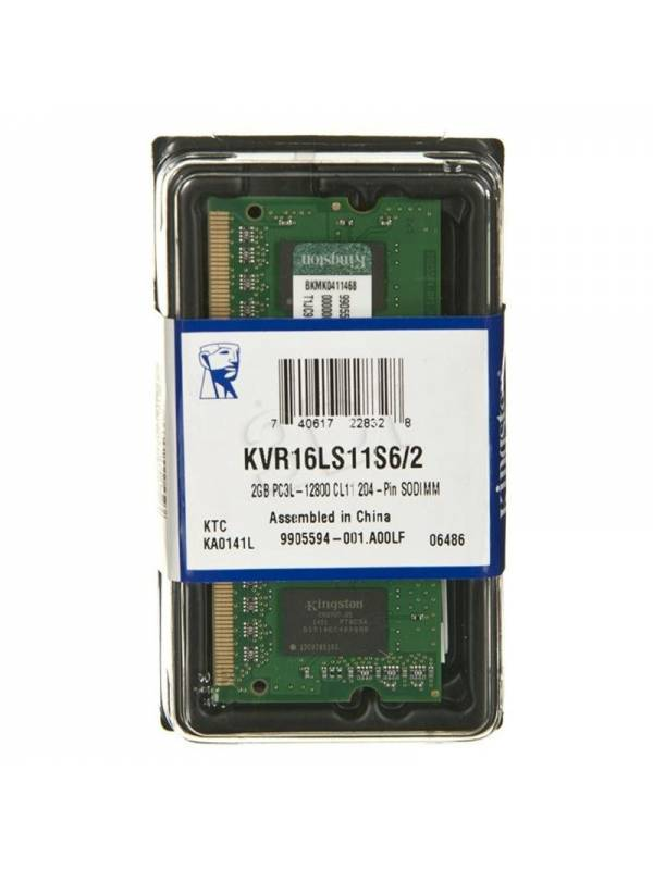 SODIMM DDR3L 2GB1600 KINGSTON