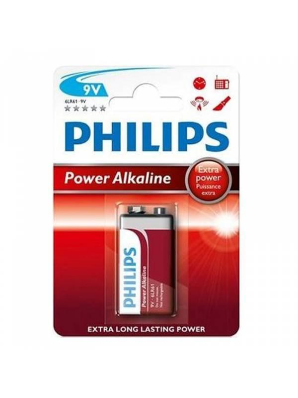 PILA 9V PHILIPS 1UND BLISTER    ALCALINA