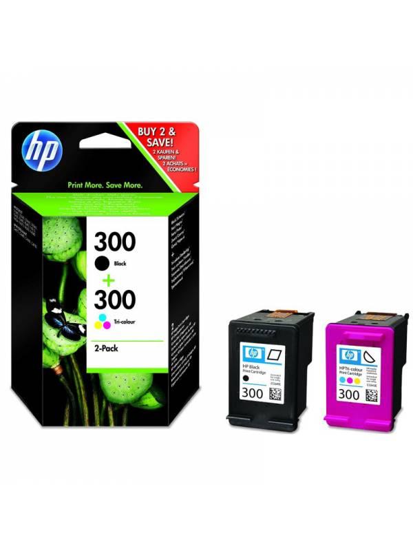 CARTUCHO HP CN637EE N300 PACK  NEGRO + TRICOLOR