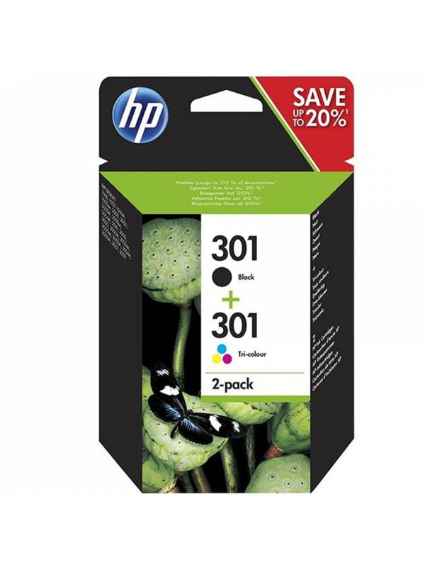 CARTUCHO HP N9J72AE N301 PACK  NEGRO + TRICOLOR