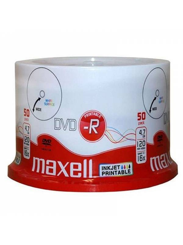 DVD MAXELL   50 UNDS 16X 4.7GB  -R PRINTABLE
