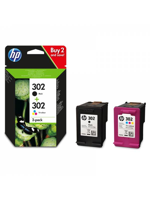 CARTUCHO HP X4D37AE 302 PACK   NEGRO+CIAN,MAGENTA,AMARILLO