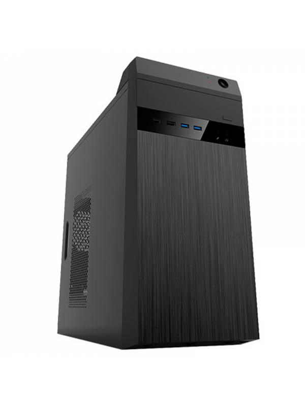 CAJA MICRO ATX UMBRELLA NEGRA  2 x USB 3.0 CON FUENTE 500W
