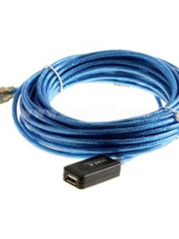 CABLE ALARGO USB 2.0 10M AA M H CON AMPLIFICADOR DE SEÑAL