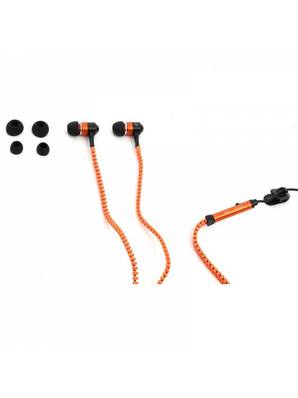 AURI. + MIC 3.5MM MINI FREESTY LE ZIP CREMALLERA IN EAR ORANG