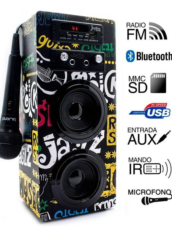 ALTAVOZ BT. BIWOND KARAOKE BAN  FM RADIOMICROFONO 2x5W