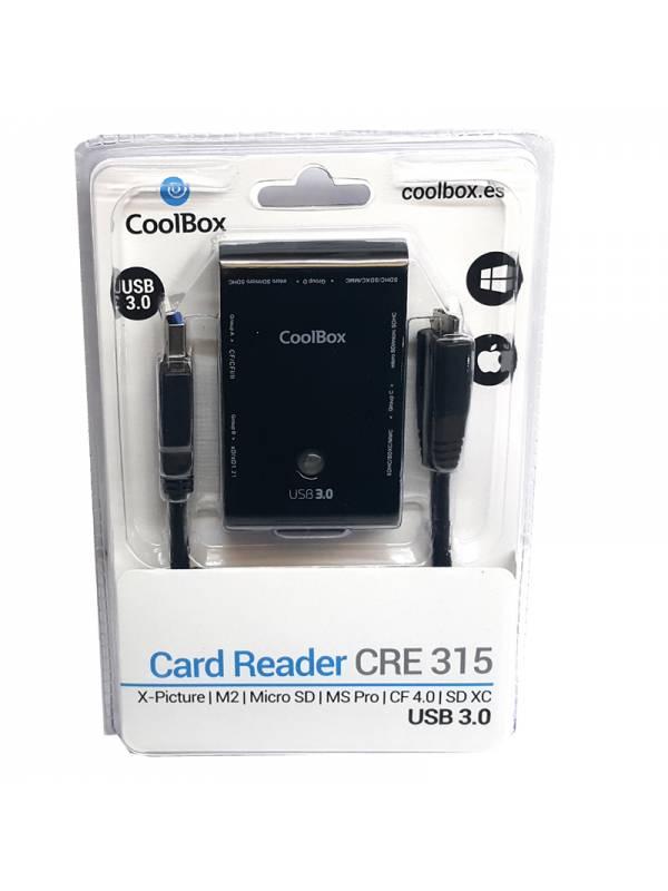 LECTOR EXT. COOLBOX USB 3.0    NEGRO CRE315 TARJETAS