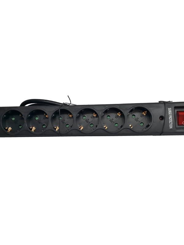 REGLETA 6 TOMAS RIELLO THUNDER 6002 USB NEGRA