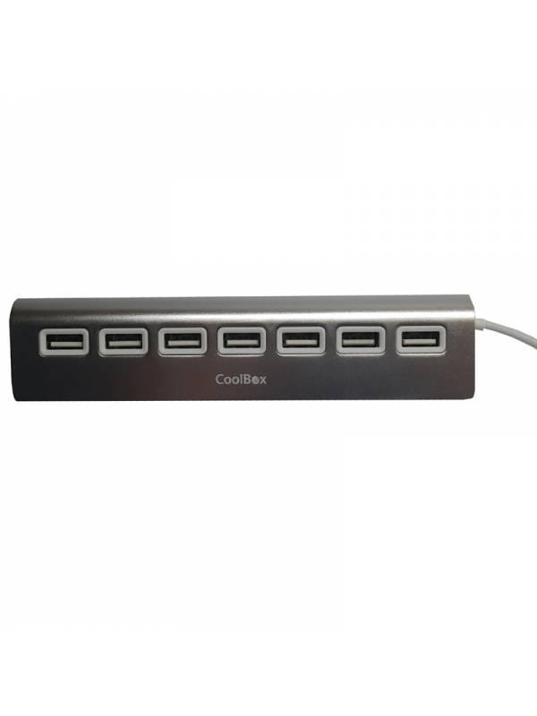 HUB 7 PTOS USB 2.0 COOLBOX ALU -2