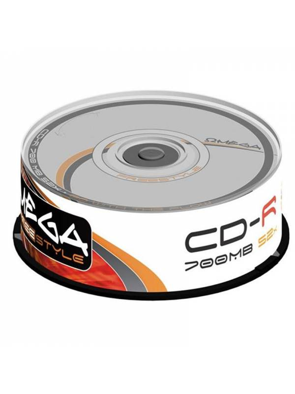 CD OMEGA     25 UNDS 52X 700MB -R