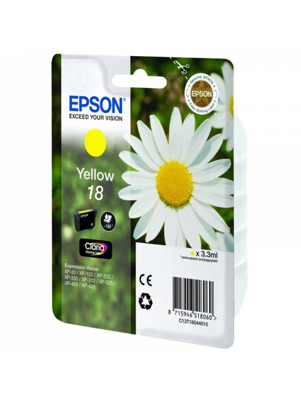 CARTUCHO EPSON T180440 AMARILL O