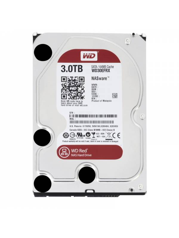 DISCO 3.5   3TB WD SATA3 RED  NAS WARE