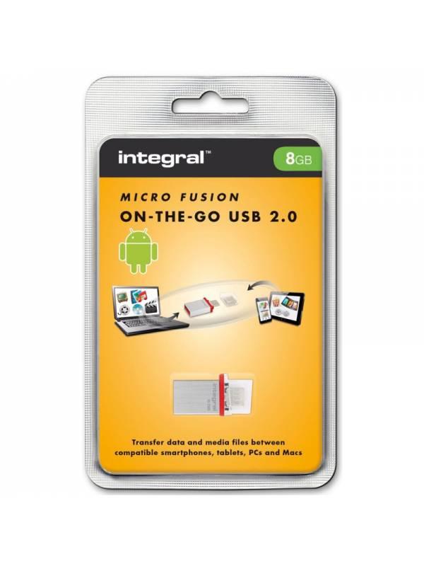 CONVERSOR USB A MINI USB OTG   INTEGRAL