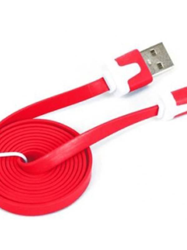 CABLE USB 2.0  1M A MICRO USB  OMEGA ROJO