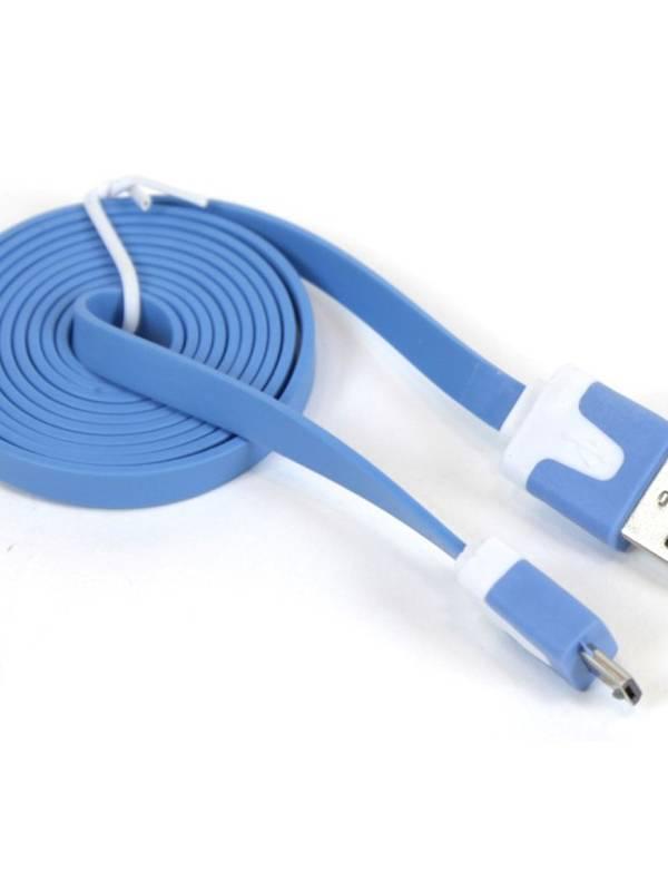 CABLE USB 2.0  1M A MICRO USB  OMEGA AZUL