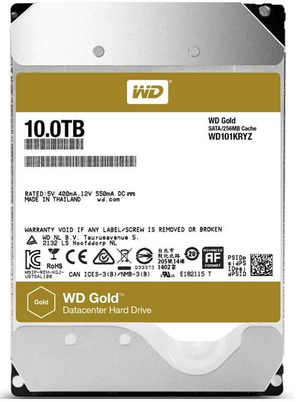 DISCO 3.5  10TB WD SATA3 GOLD