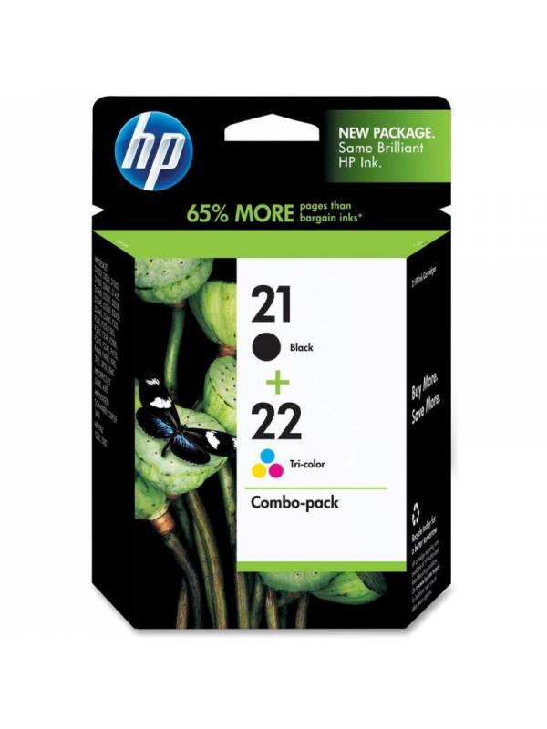 CARTUCHO HP C9351+C9352 PACK   N21+N22 COLORNEGRO