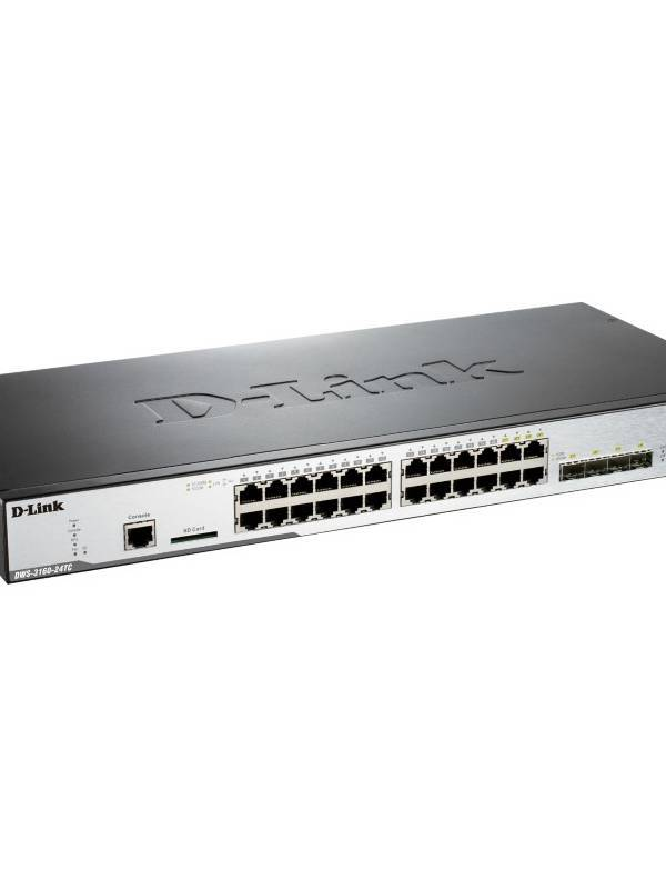 SWITCH GIGA 24PTOS DLINK DWS-3 160-24TC