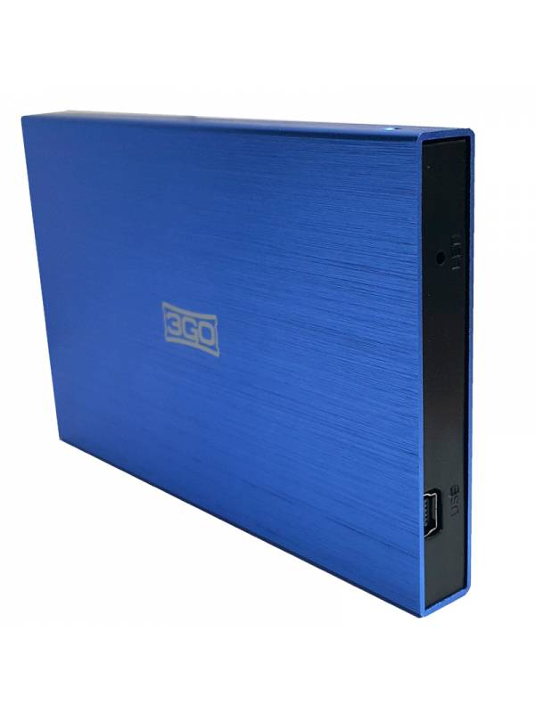 CAJA 2.5 USB 2.0 3GO AZUL