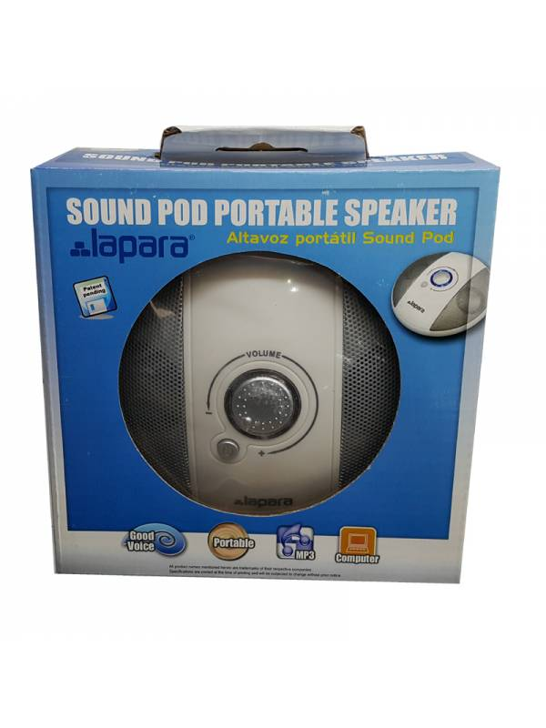 ALTAVOZ 2.0 LAPARA MP3 SOUND   POD BLANCO
