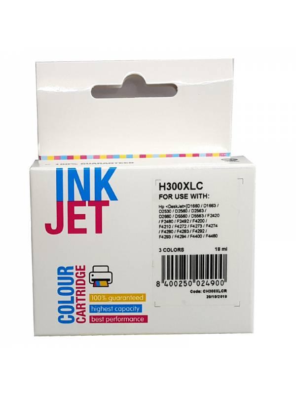 CARTUCHO INK HP CC644EECC643E E 300XL TRICOLOR