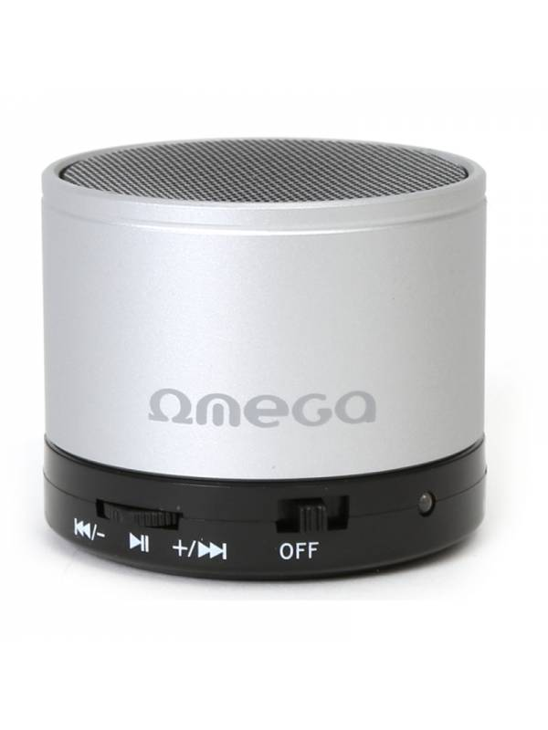 ALTAVOZ MINI PORTABLE BT OMEGA  V 3.0 PLATA