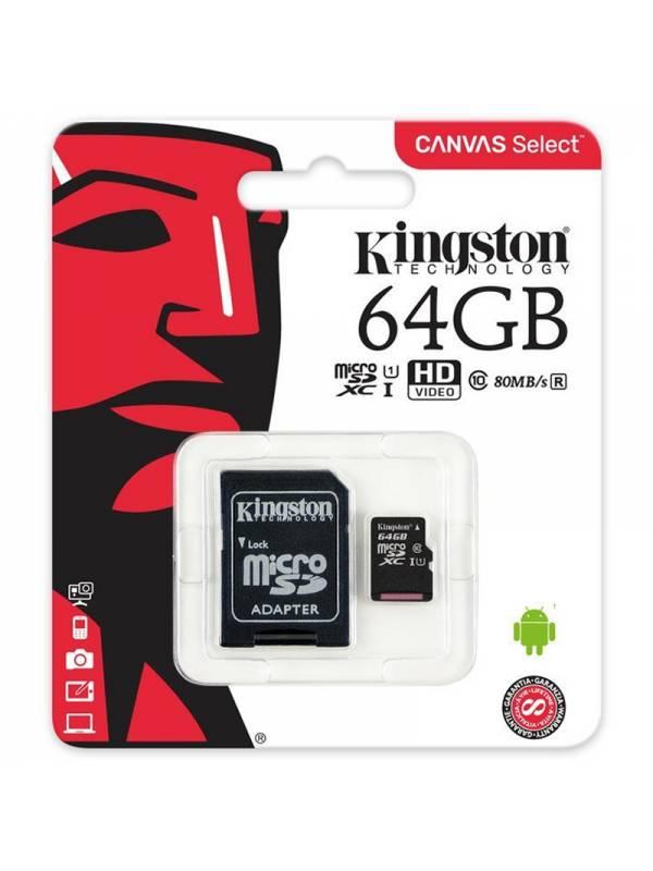MEMORIA DG  64GB KINGSTON MSD/ SD CLASE 10