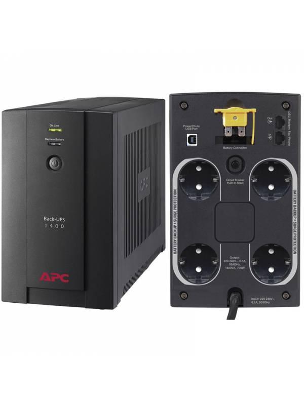 SAI 1.4KVA APC BX1400U-GR 700  vatios 230V BACK-UPS SCHUKO