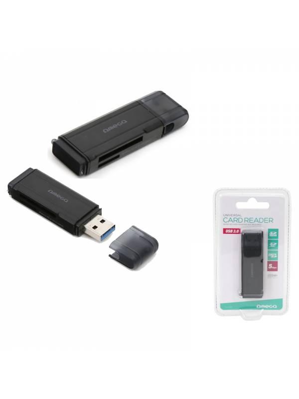 LECTOR EXT. OMEGA SDMICRO SD  USB 3.0 NEGRO