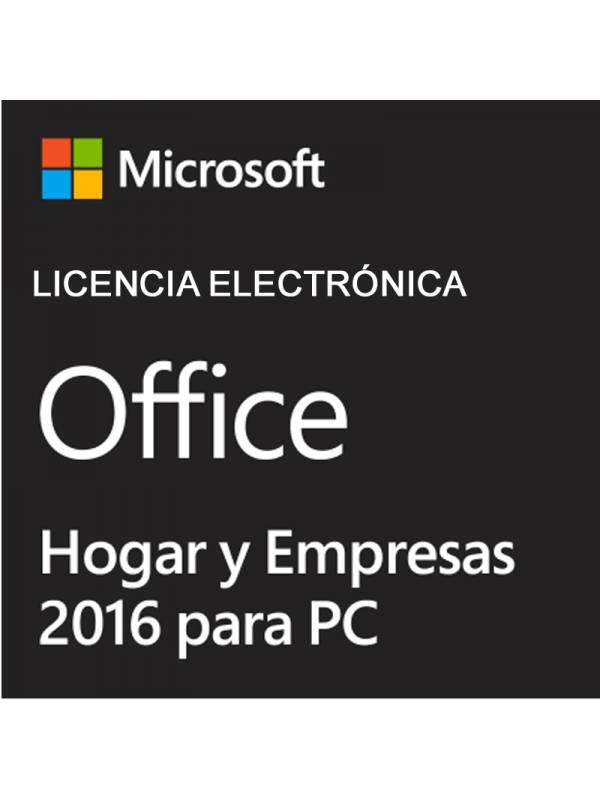 OFFICE 2016 HOGAR Y EMPRESA LI ENCIA ELETRONICA 1 PC
