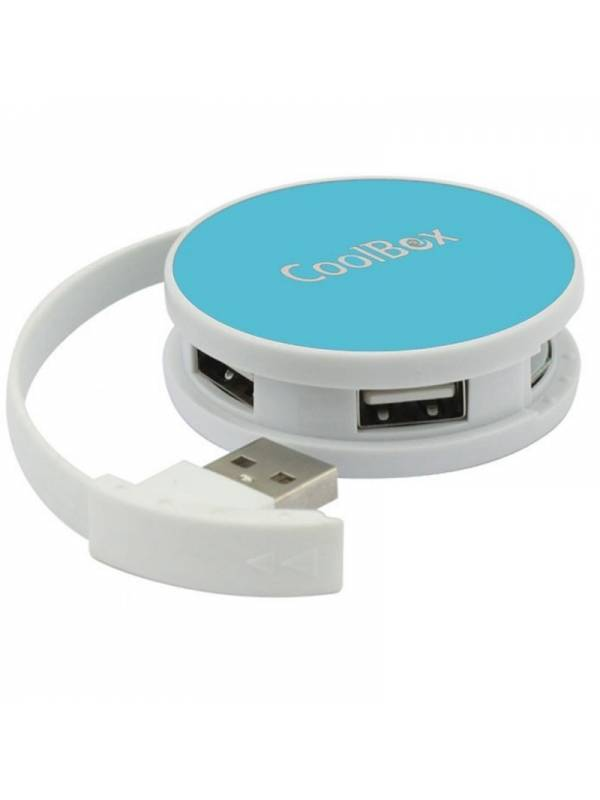HUB 4 PTOS USB 2.0 COOLBOX     SMART AZUL-BLANCO