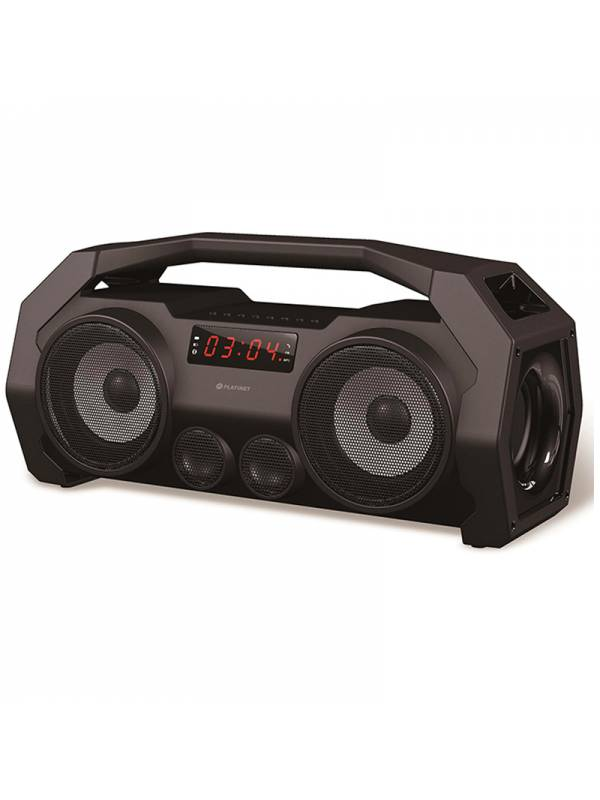 ALTAVOZ BT PLATINET RADIO FM   BOOMBOX NEGRO