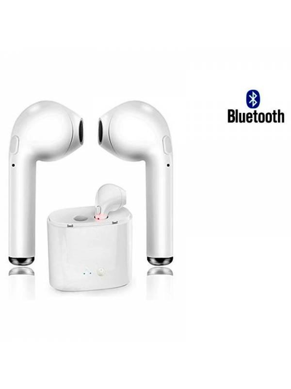 AURI. + MIC BT I7S TWS IN EAR  BLANCOS ESTILO APPLE