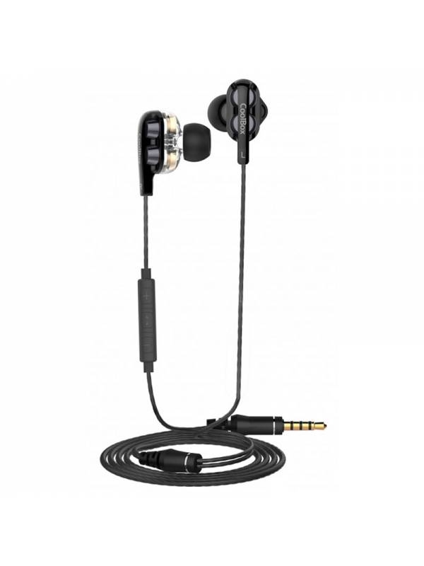 AURI. + MIC 3.5MM COOLBOX COOL JOIN IN EAR NEGRO