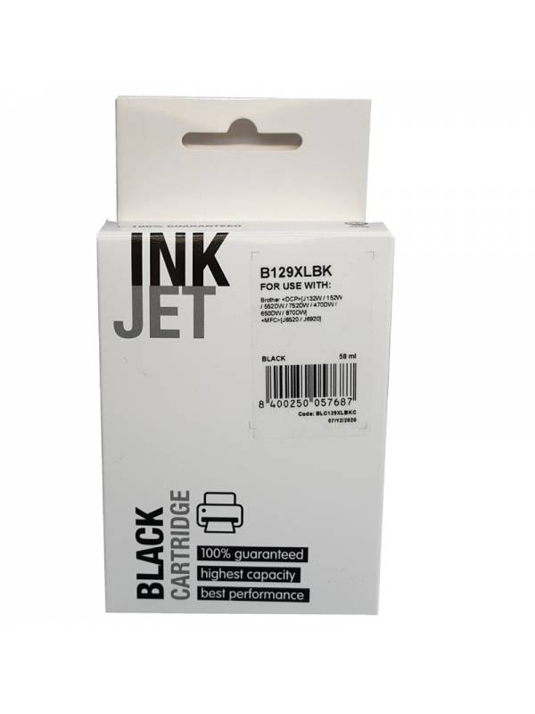 CARTUCHO INK BROTHER LC129XL   NEGRO