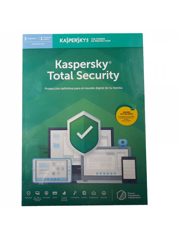 AV IS. 3LC KASPERSKY TOTAL SEC URITY 2019