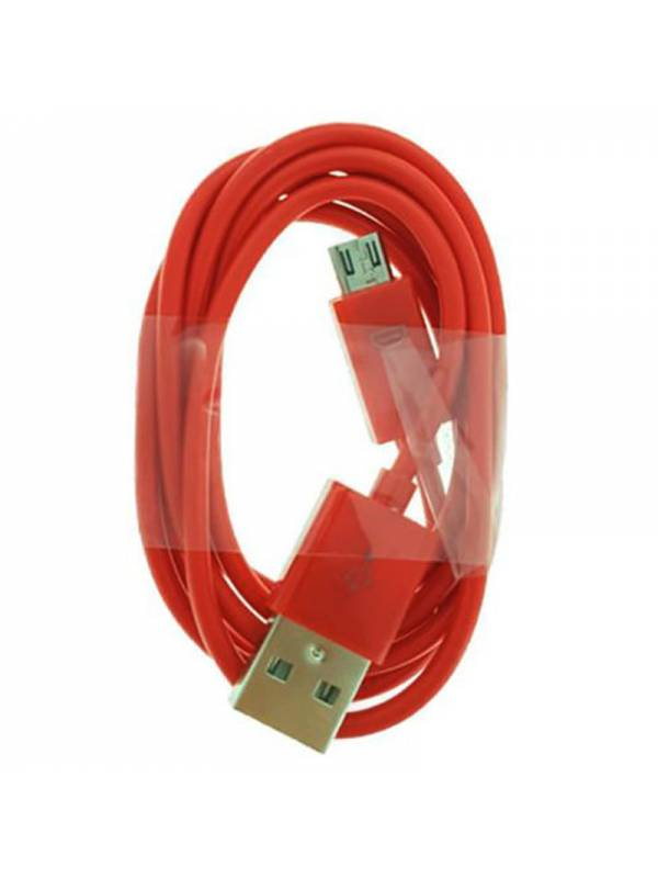 CABLE MICRO USB  1M A USB 2.0A  ROJO