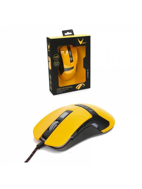 RATON USB OMEGA 3200 DPI AMARI LLO NEGRO GAMING VARR