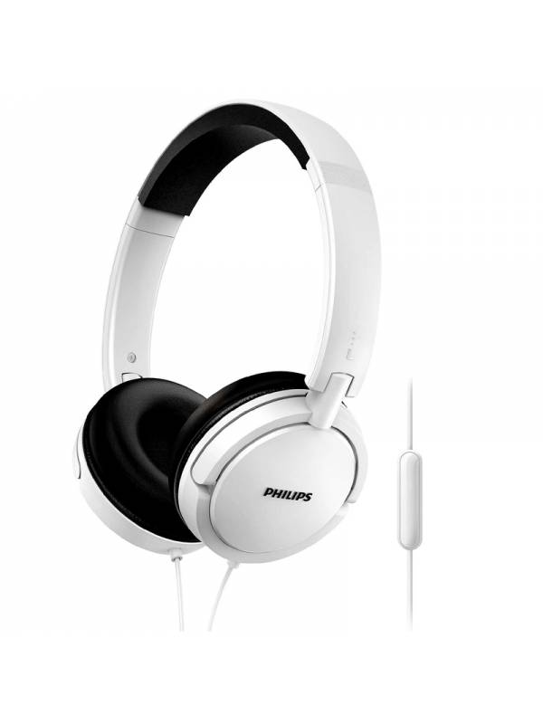 AURI. + MIC 3.5MM PHILIPS SHL5 005 CASCOS BLANCO