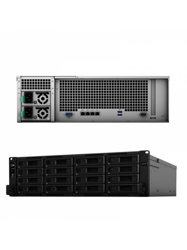 RACK SERVER 3U SYNOLOGY RS2818 RP+ MONTAJE EN BASTIDOR