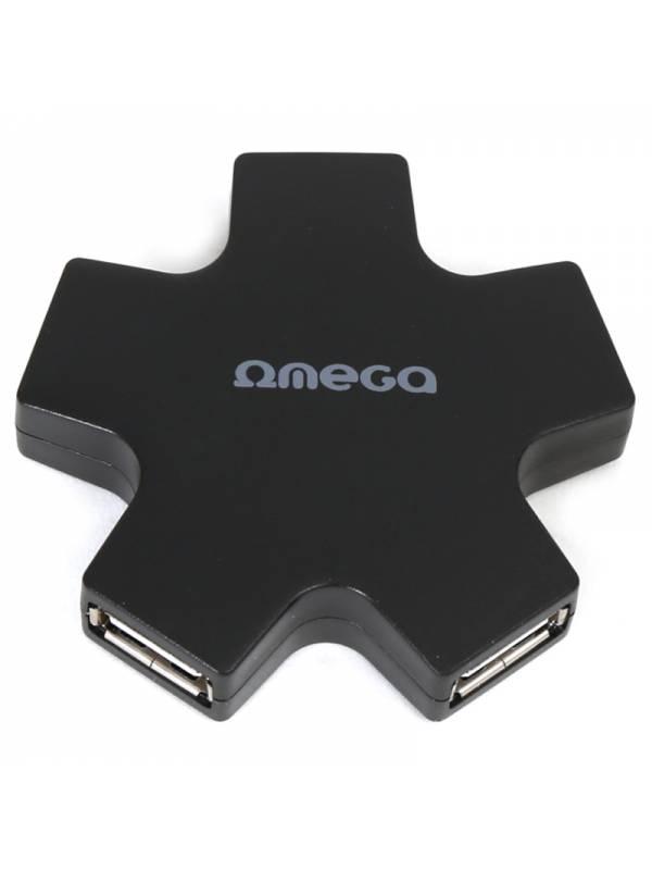 HUB 4 PTOS USB 2.0 OMEGA NEGRO
